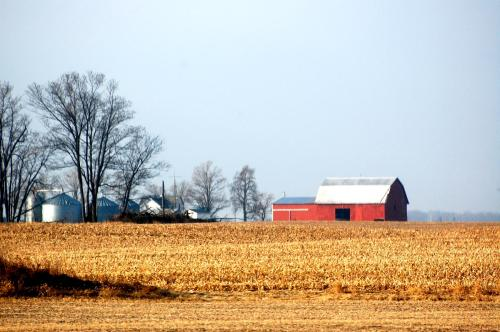 Barn I see from the kitchen window- 2 fields away - love my lense!